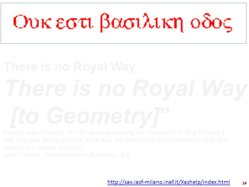 [to Geometry] There is no Royal Way